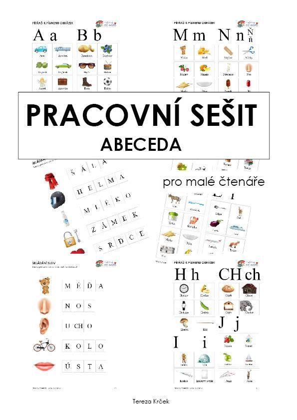 PDF pro děti k vytisknutí ABECEDA PRACOVNÍ SEŠIT