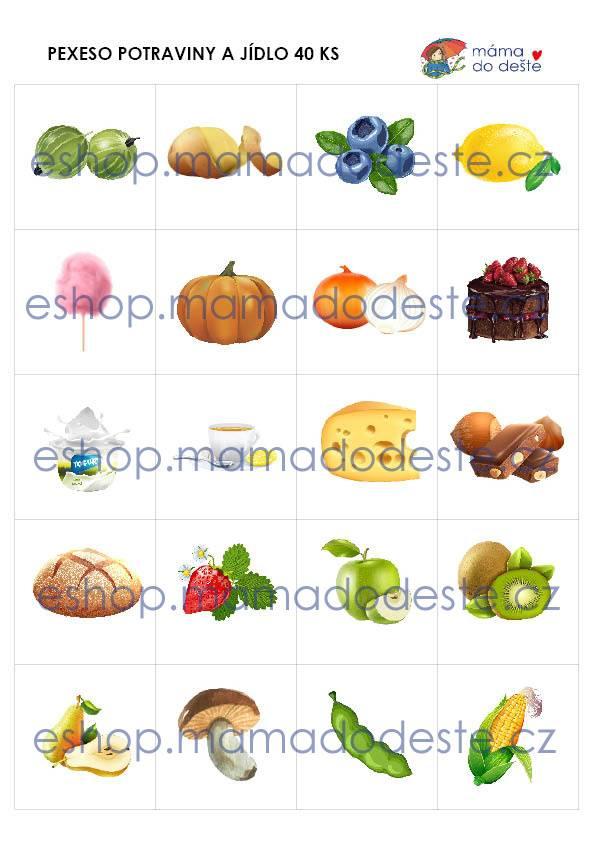 PDF pro děti k vytisknutí Pexeso_Potraviny