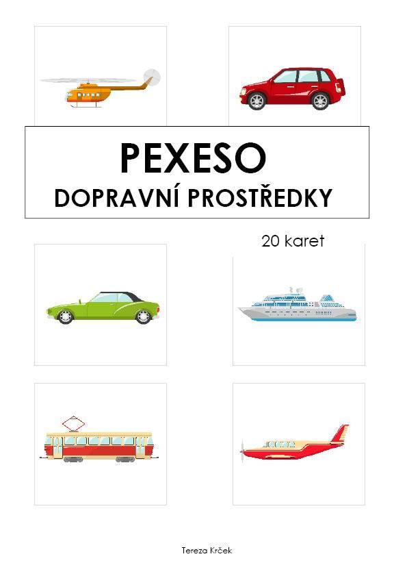 PDF pro děti k vytisknutí Pexeso_Dopravní prostředky