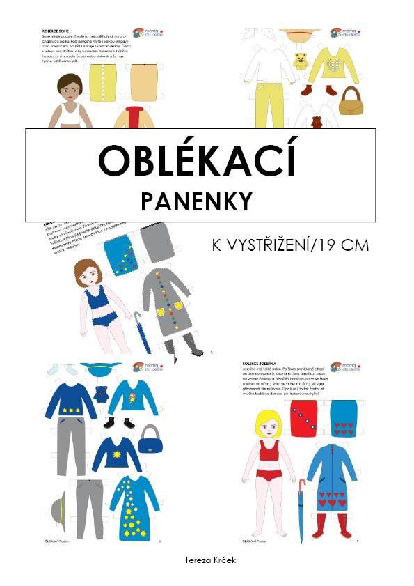 PDF pro děti k vytisknutí Oblékací panenky k vystřižení 19 cm