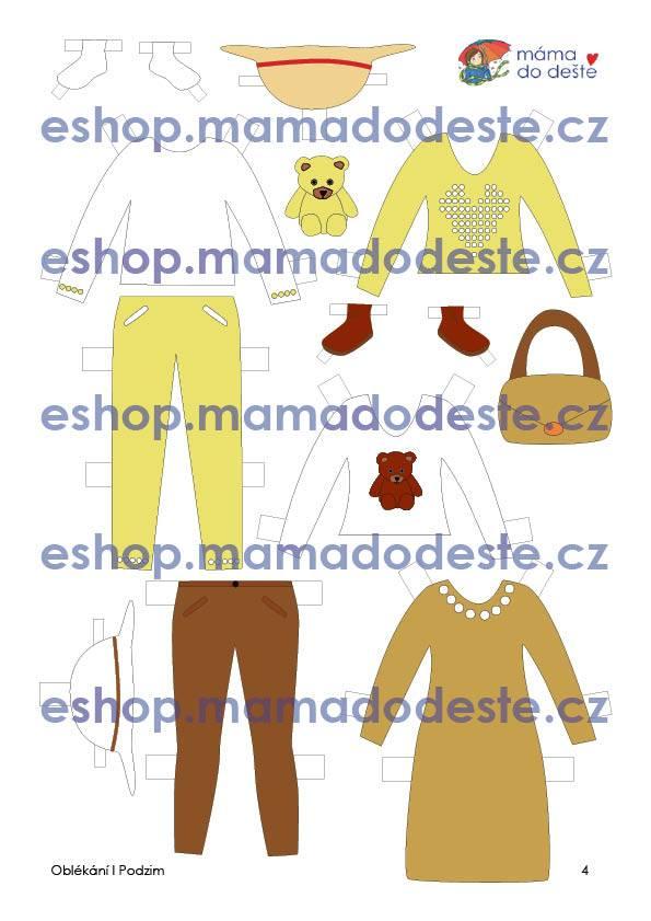 PDF pro děti k vytisknutí Oblékací panenky k vystřižení 19 cm3