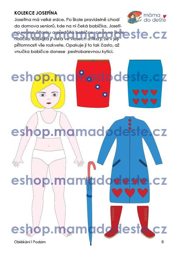 PDF pro děti k vytisknutí Oblékací panenky k zalaminování 19 cm6