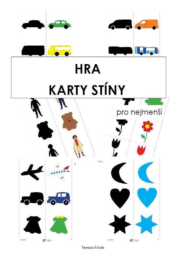 PDF pro děti k vytisknutí Karty Stíny (hra)