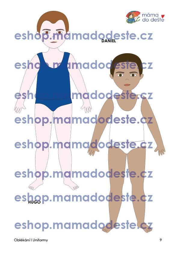 PDF pro děti k vytisknutí Oblékací panenky UNIFORMY - dvě verze PDF