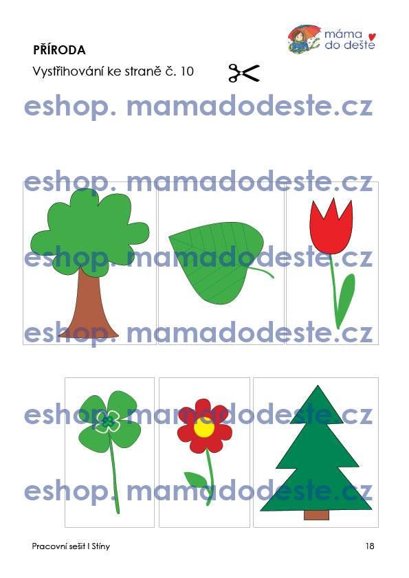 Pracovní sešit StínyPDF pro děti k vytisknutí
