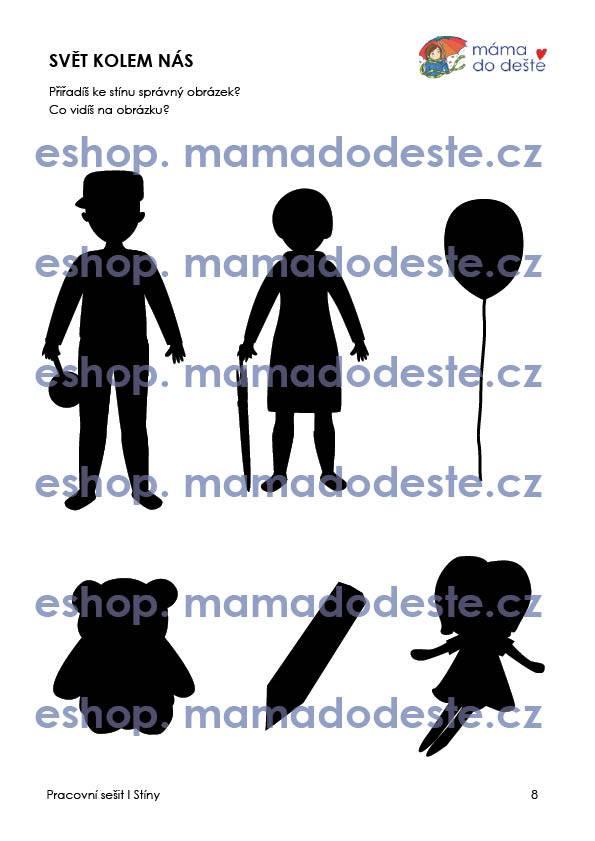 PDF pro děti k vytisknutí Pracovní sešit Stíny