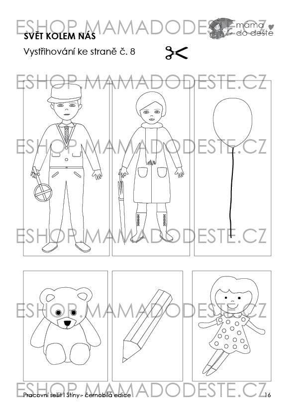 PDF pro děti k vytisknutí Pracovní sešit Stíny_19 stran