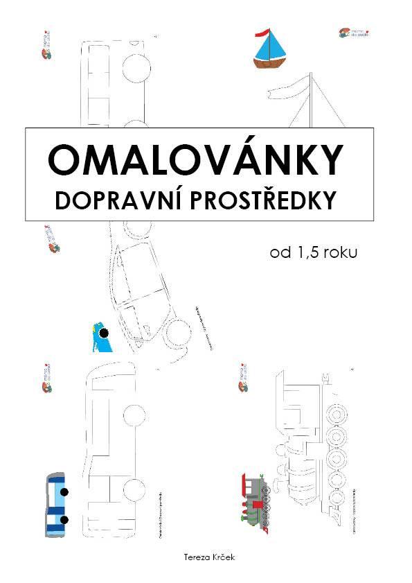 PDF pro děti k vytisknutí Omalovánky Dopravní prostředky