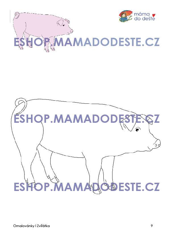 PDF pro děti k vytisknutí Omalovánky zvířátka
