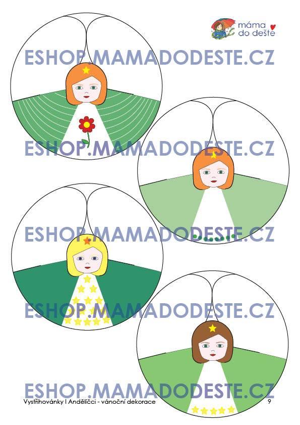 PDF pro děti k vytisknutí Andělíčci