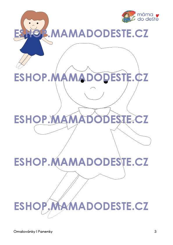 PDF pro děti k vytisknutí Omalovánky panenky