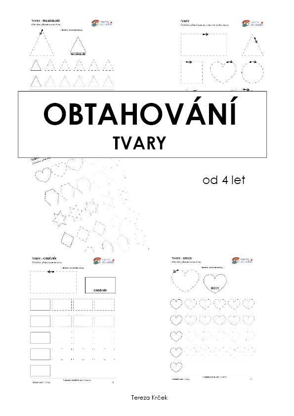Pracovní listy Obtahování TVARY v PDF