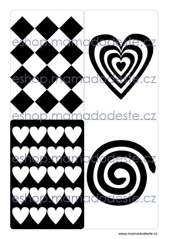 Kontrastní kartičky TVARY