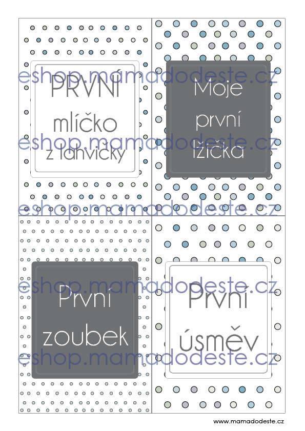 Milníkové karty PRO MIMINKA tečky pastelové