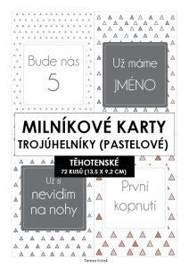 Milníkové karty TĚHOTENSKÉ Trojúhelníky pastelové