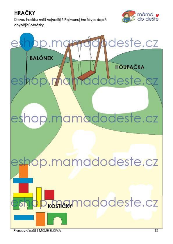 Pracovní sešit - MOJE SLOVA 25 stran PDF