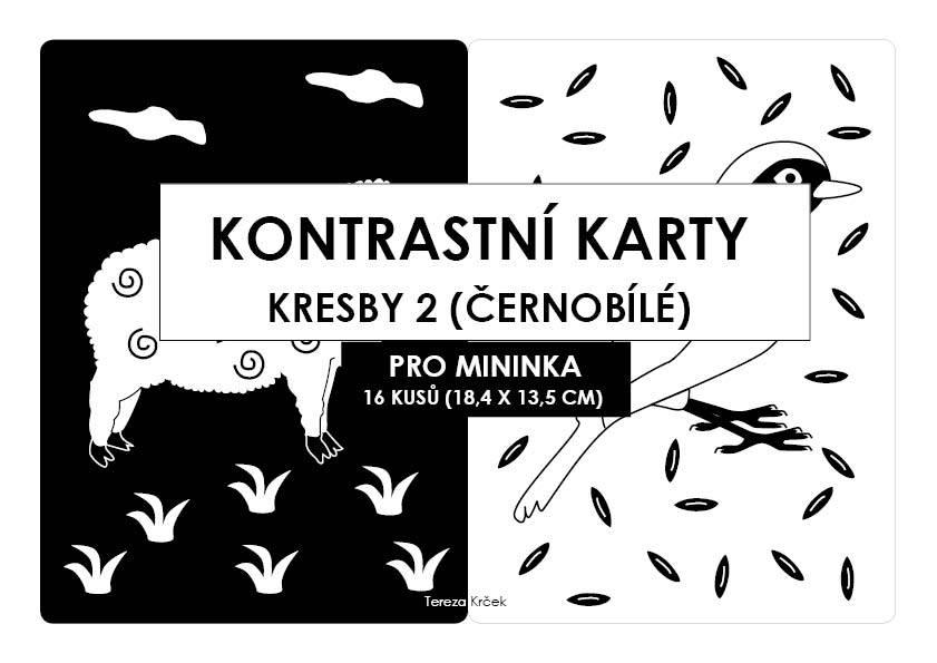 Kontrastní kartičky KRESBY 2 A54