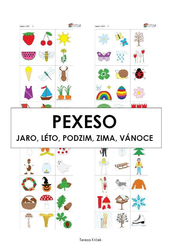 Pexeso Jaro-Léto-Podzim-Zima-Vánoce v PDF