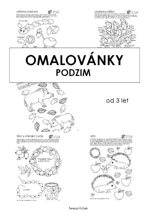 Pracovní listy Šikovné prstíčky PODZIM + Omalovánky zdarma, PDF