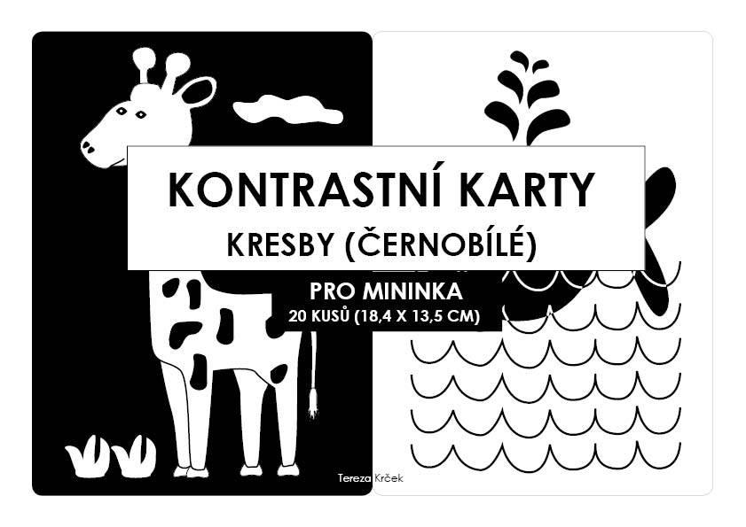 Kontrastní kartičky KRESBY A5