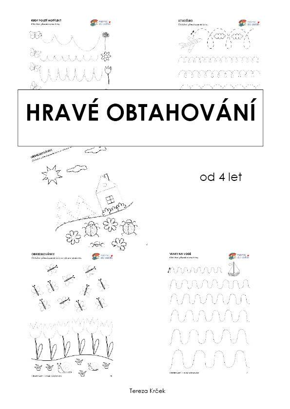 Pracovní listy Hravé obtahování (grafomotorika)