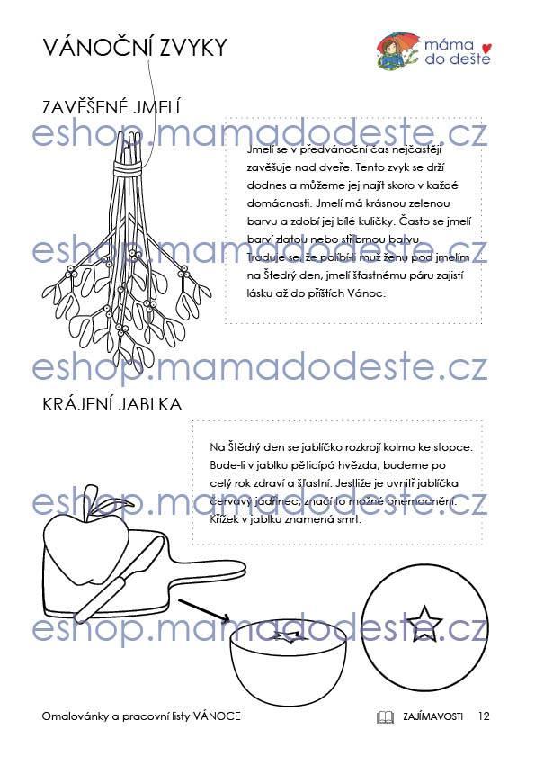 Pracovní listy VÁNOCE, PDF