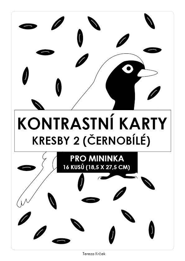 Kontrastní karty černobílé KRESBY II. PDF (A4)
