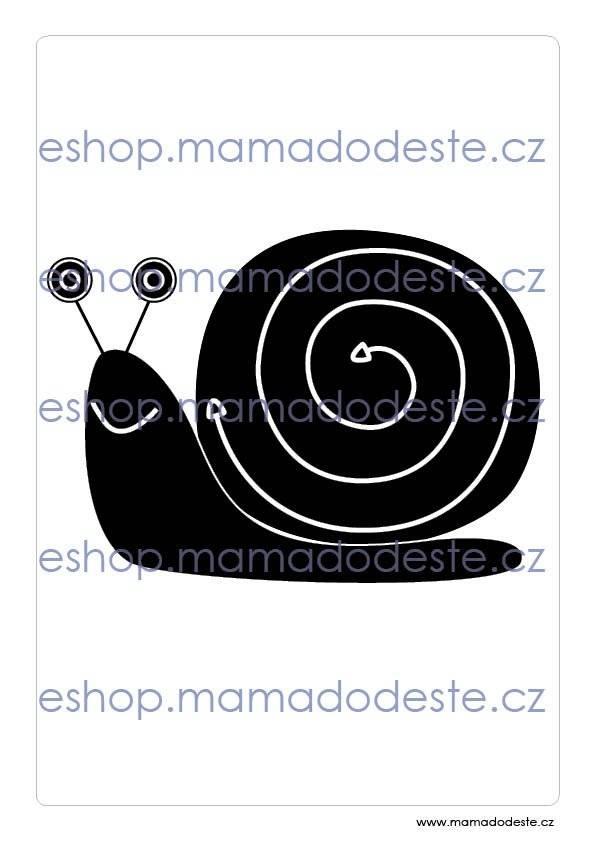 Kontrastní karty černobílé KRESBY PDF (A4)