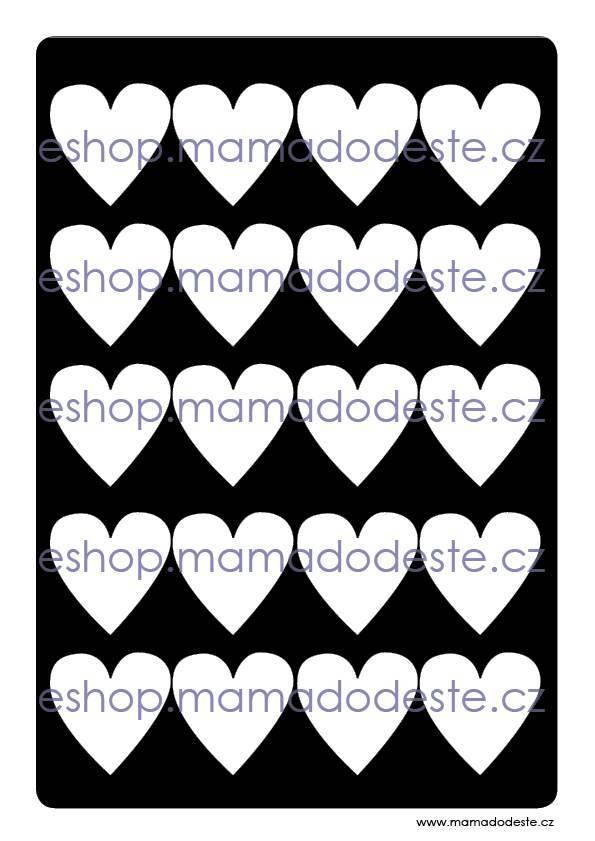 Kontrastní karty černobílé TVARY PDF (A4)