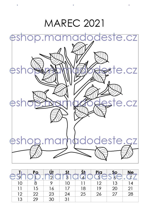 KALENDÁR 2021 (A4) Šikovné prstíky + Maľovanky zdarma, PDF SLOVENSKY