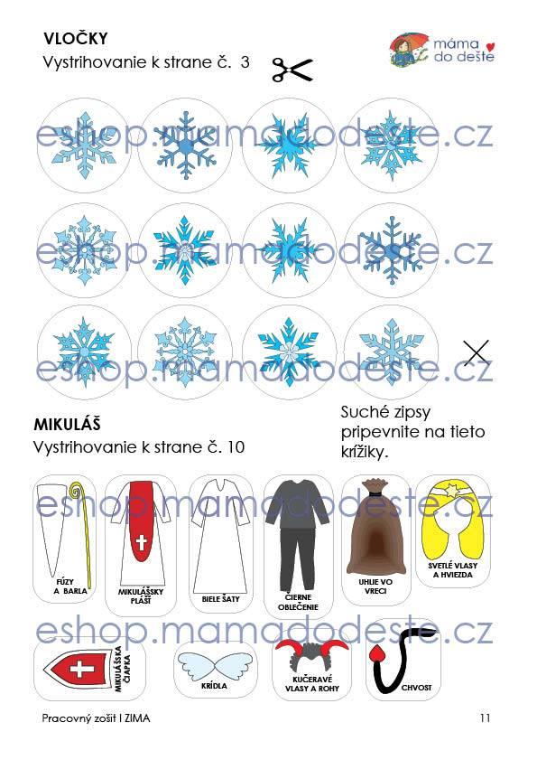 Pracovný zošit - ZIMA 16 strán PDF SLOVENSKY