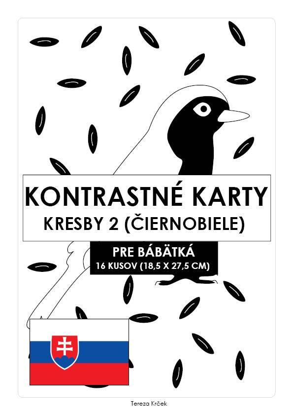 Kontrastné čiernobiele kartičky pre bábätká KRESBY II. PDF (A4) SLOVENSKY