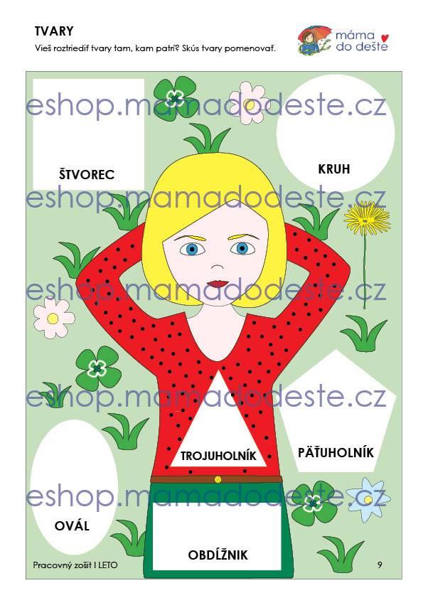 Pracovný zošit - LETO 16 strán PDF SLOVENSKY