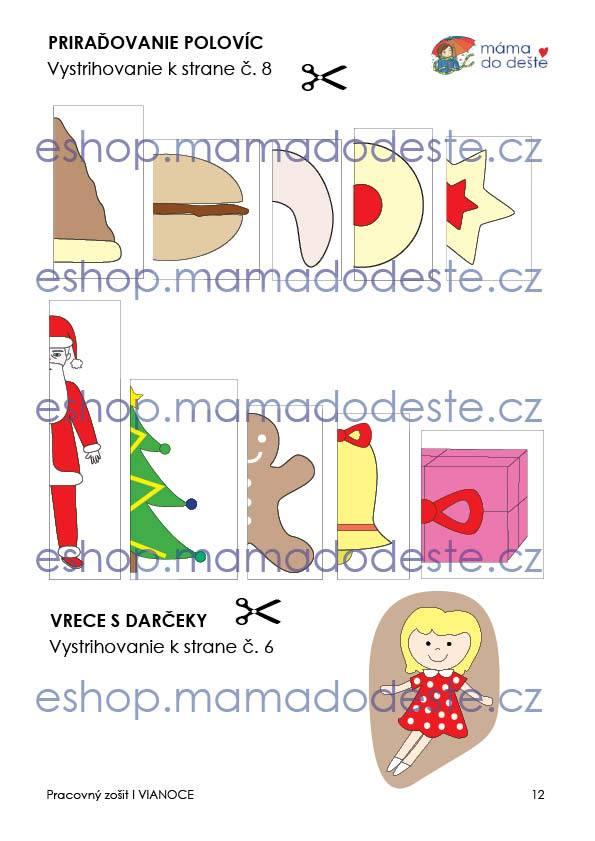 Pracovný zošit - VIANOCE 13 strán PDF SLOVENSKY