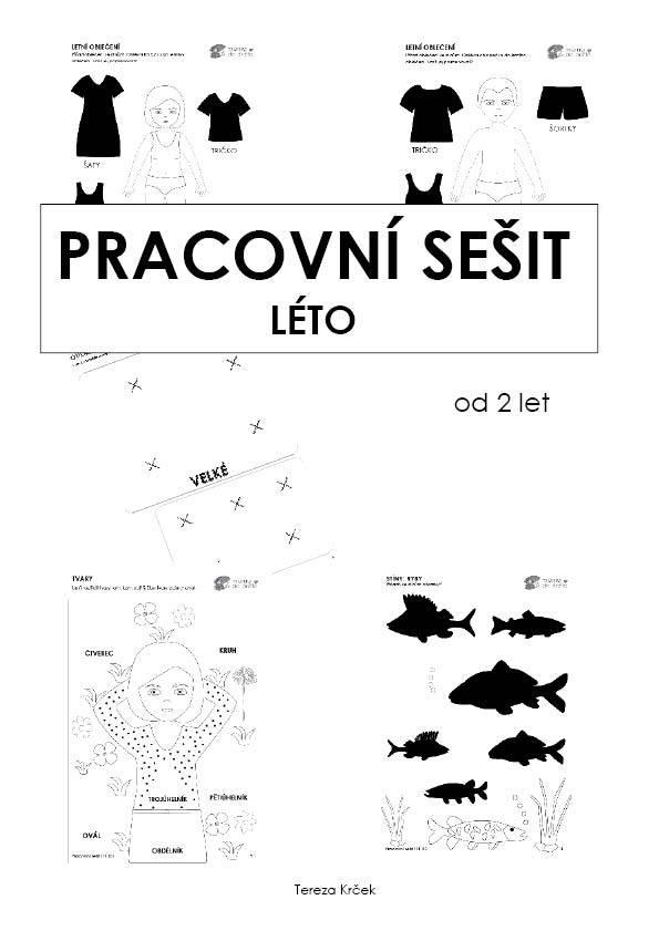 Pracovní sešit - LÉTO 16 stran PDF (černobílá edice)