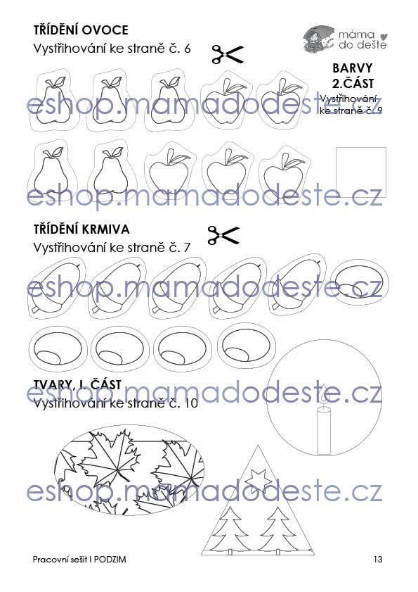 Pracovní sešit - PODZIM 15 stran PDF (černobílá edice)