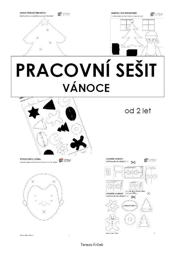 Pracovní sešit - VÁNOCE 13 stran PDF (černobílá edice)