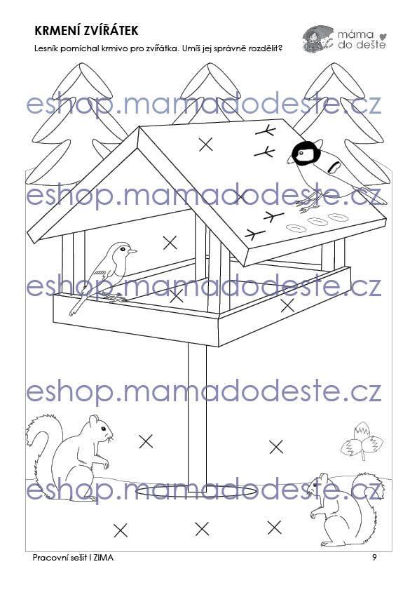 Pracovní sešit - ZIMA 16 stran PDF (černobílá edice)