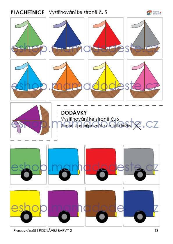 Pracovní sešit - Poznávej barvy 2, 16 stran PDF