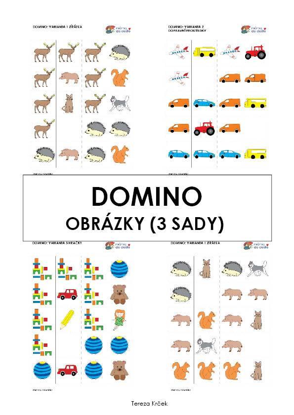 Domino obrázky (3 varianty hry) v PDF
