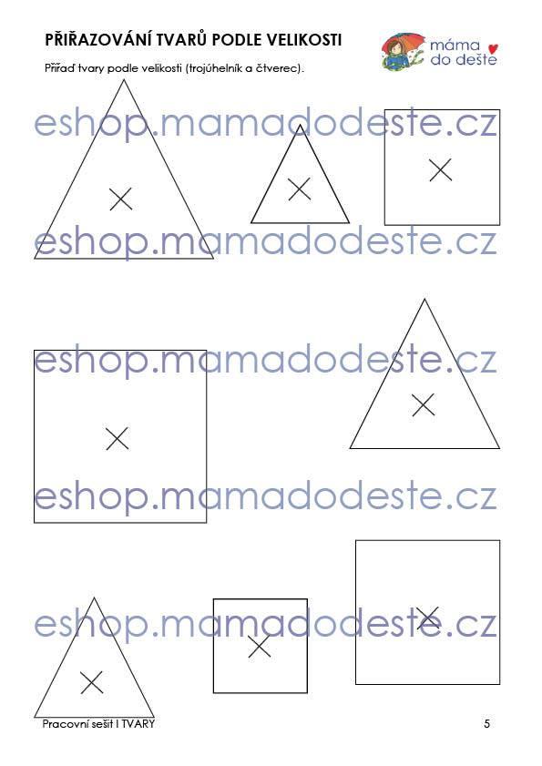 Pracovní sešit - Tvary, 18 stran PDF